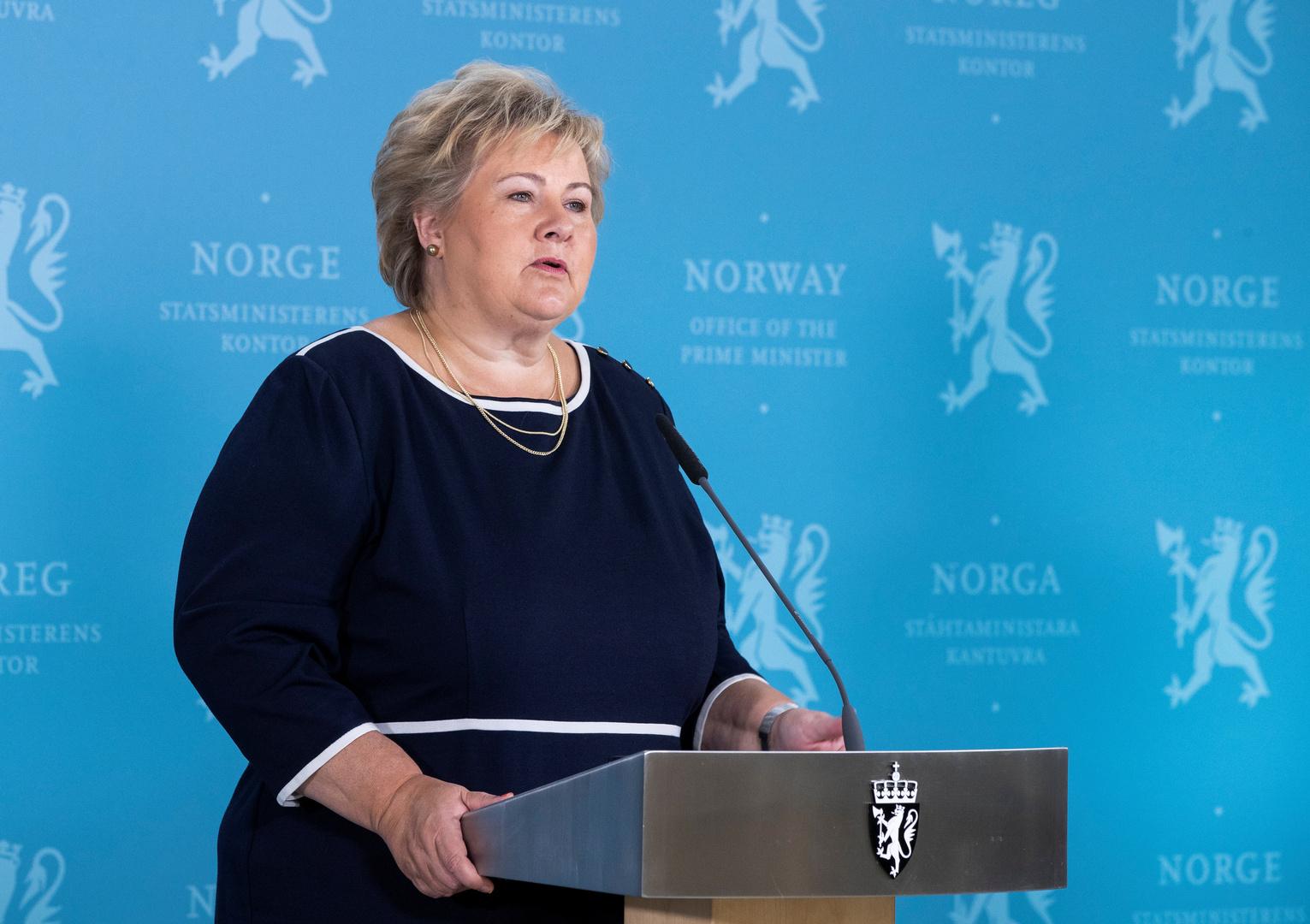 رئيسة الوزراء النرويجية، أرنا سولبيرغ.