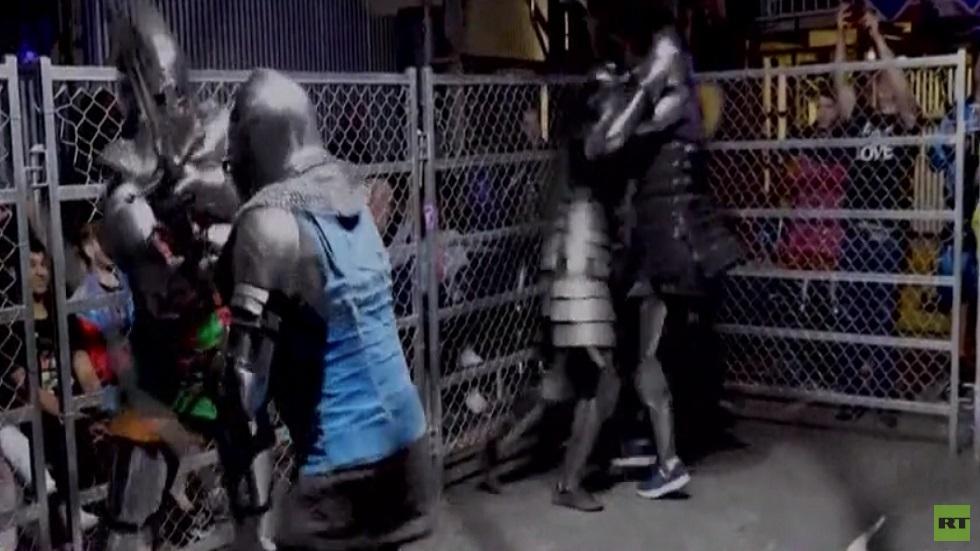أستراليا تحيي رياضة مبارزة الفرسان