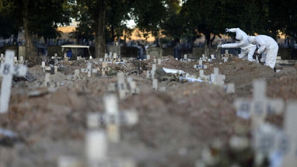 مقابر ضحايا كورونا في البرازيل - أرشيف
