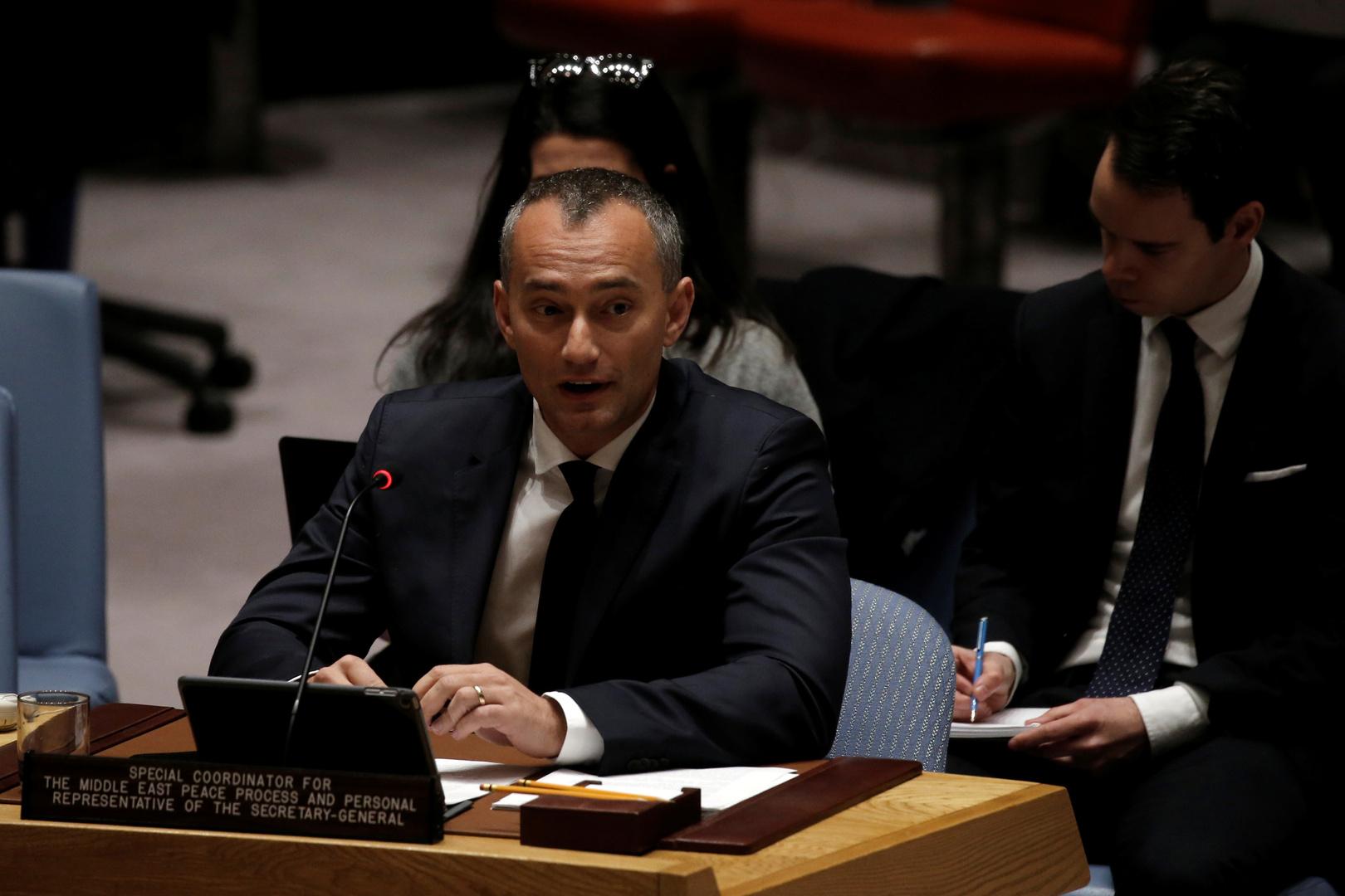 منسق الأمم المتحدة لعملية السلام في الشرق الأوسط، نيكولاي ملادينوف