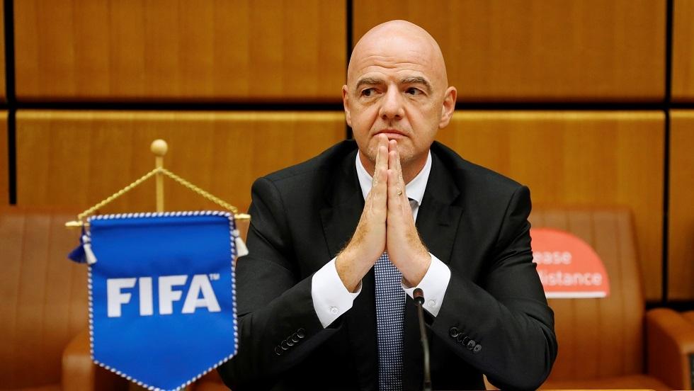 الاتحاد الدولي لكرة القدم يعلن إصابة رئيسه إنفانتينو بفيروس كورونا