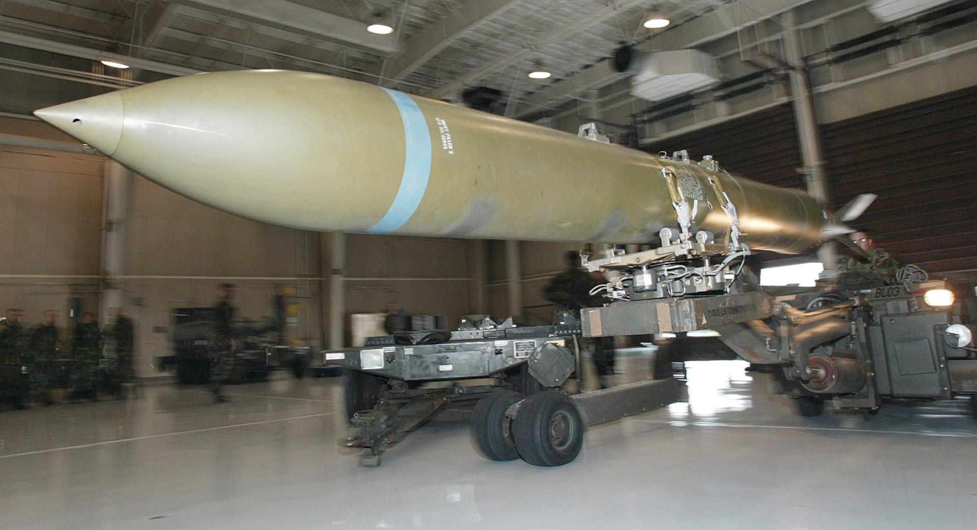 قنبلة من نوع GBU-37 لضرب المواقع المحصنة (صورة من الأرشيف)