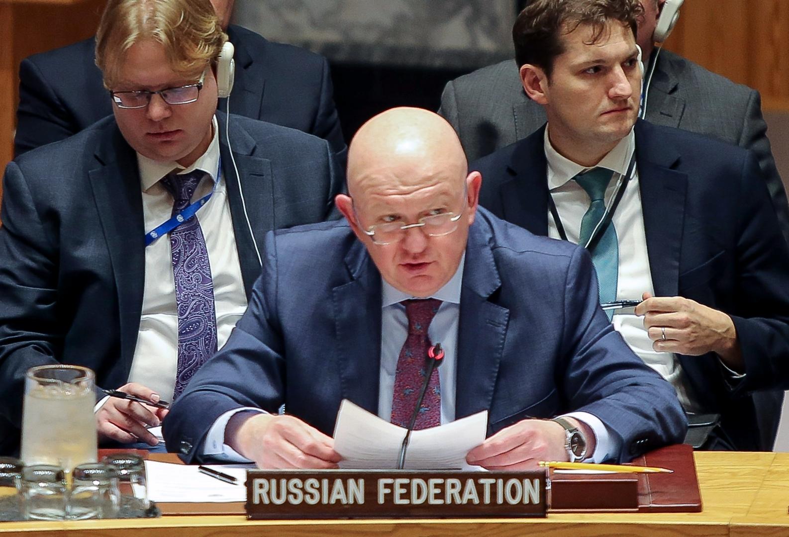 نيبينزيا: فليحفظك الرب يا كريستوف.. لا تقرأ نيويورك تايمز قبل اجتماع مجلس الأمن حول سوريا!