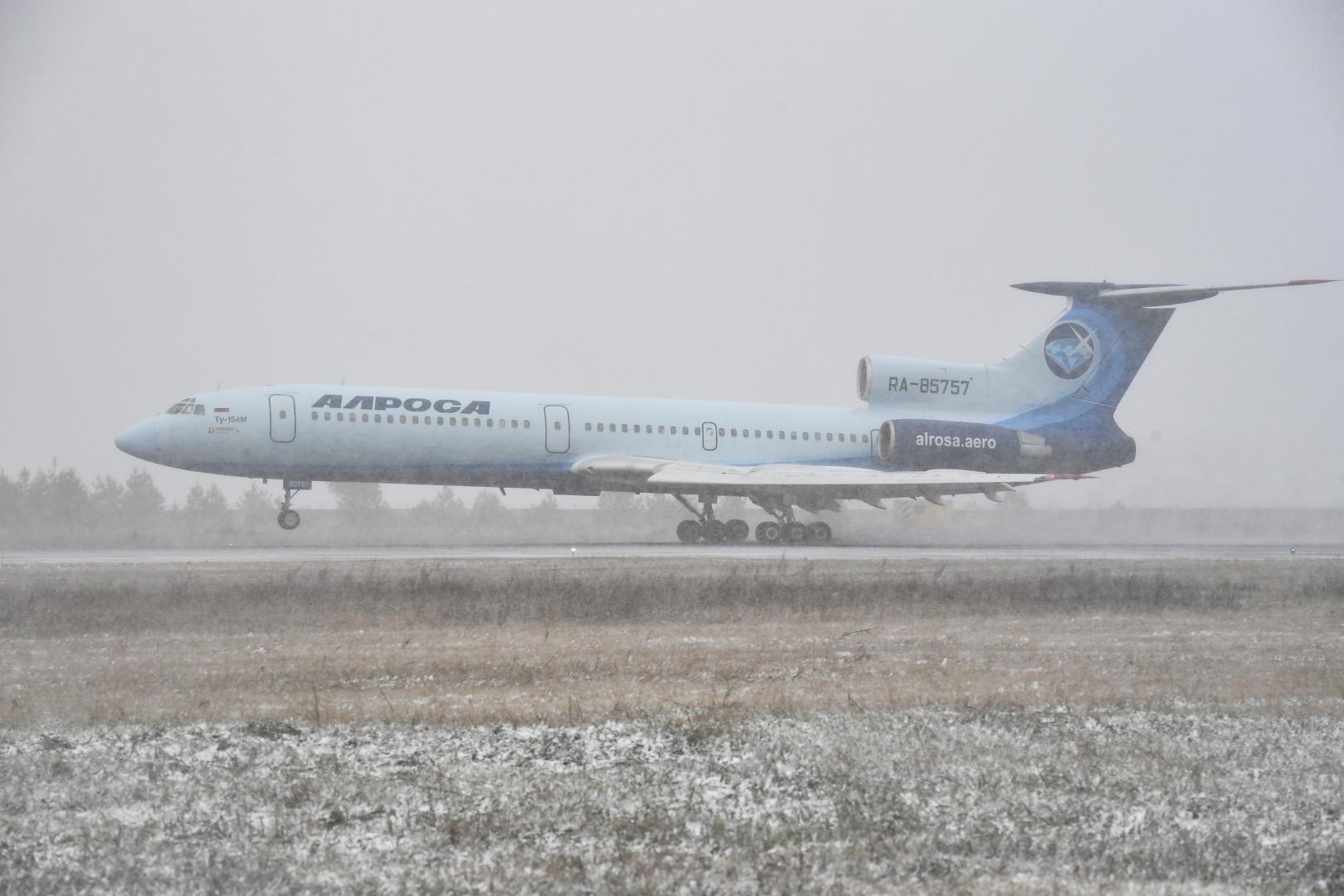 """آخر طائرة وآخر رحلة.. """"تو 154"""" المدنية تنفذ رحلة التقاعد"""
