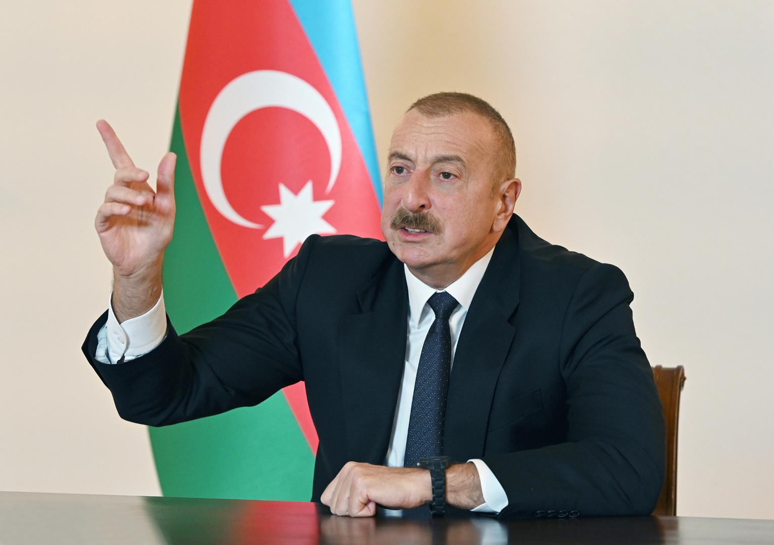 الرئيس الأذربيجاني إلهام علييف