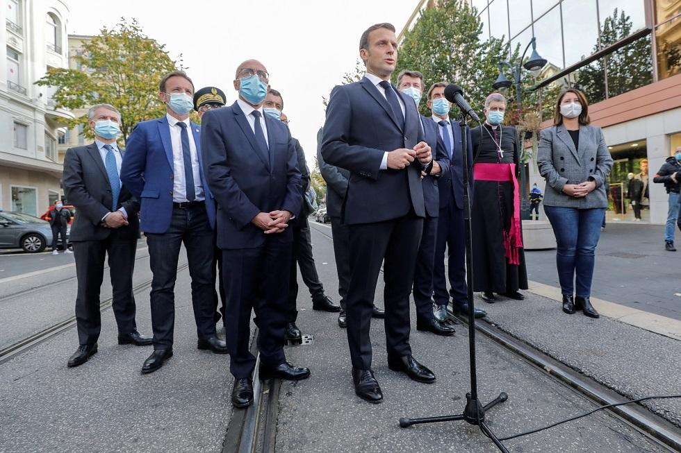 الرئيس الفرنسي: بلدنا تعرض لهجوم من إرهابي إسلامي