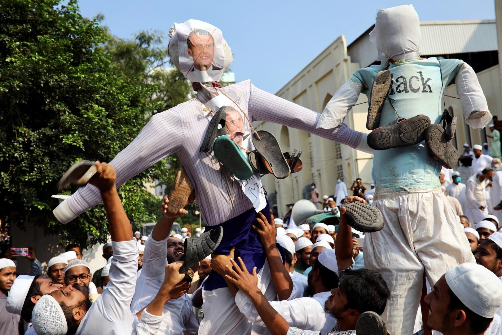 مظاهرات ضد الرئيس الفرنسي إيمانويل ماكرون في بنغلادش