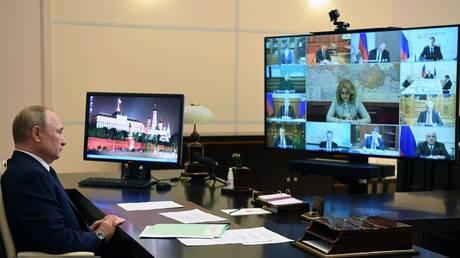 بوتين: لا سبب للحديث عن ثاني موجة تفشي فيروس كورونا في روسيا