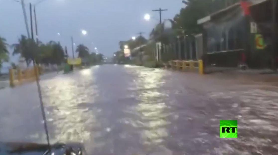 إعصار إيتا يضرب نيكاراغوا