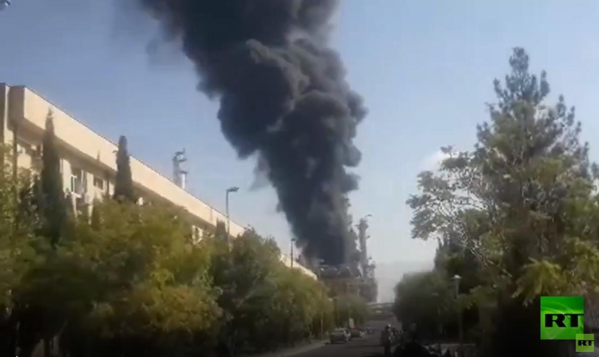 إيران.. حريق ضخم في مستودعات جنوبي العاصمة طهران - فيديو