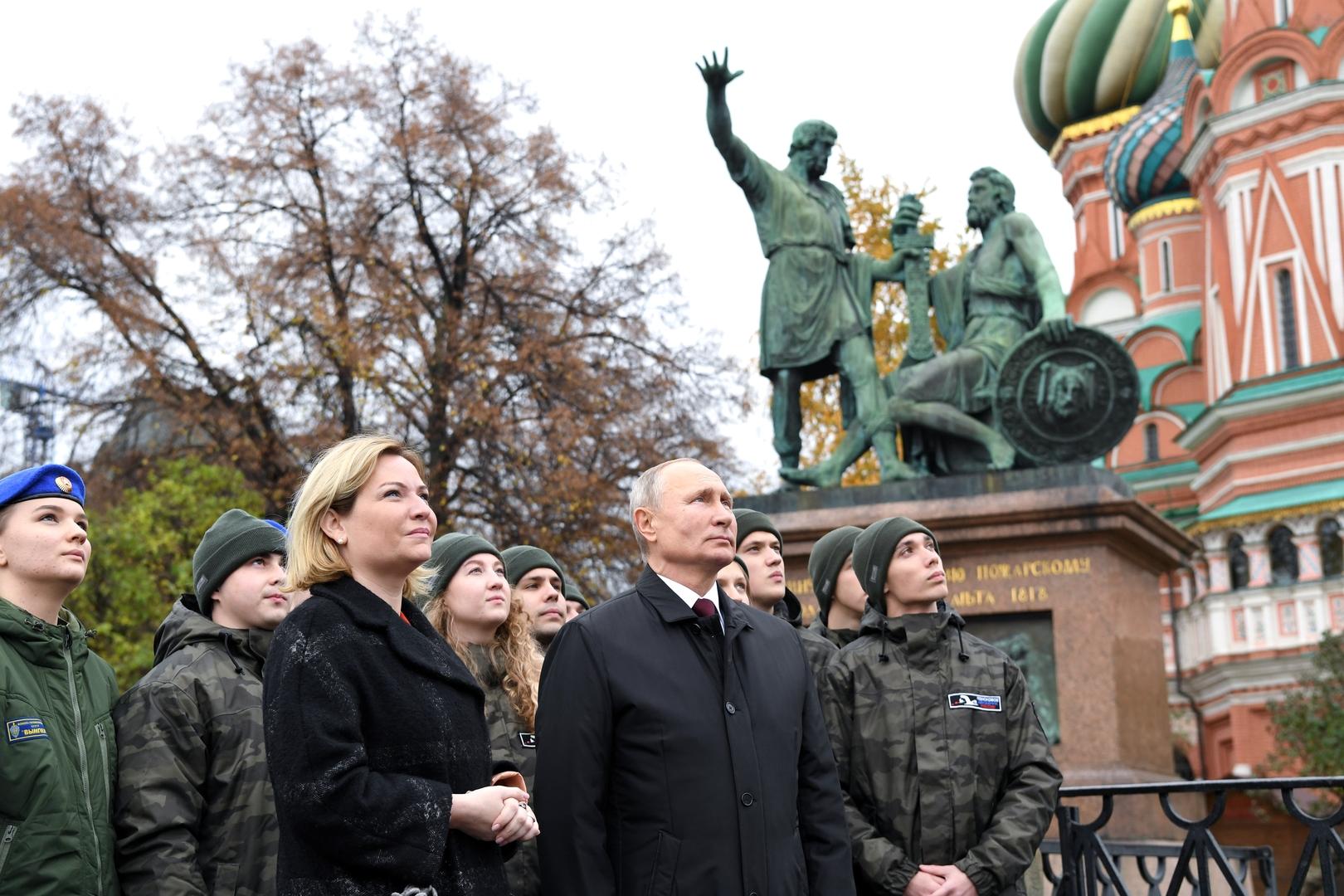 في عيد الوحدة الشعبية.. بوتين يذكر المواطنين بواجباتهم أمام الوطن