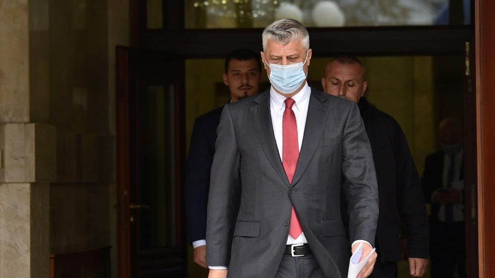 رئيس وزراء كوسوفو المستقيل هاشم تاتشي