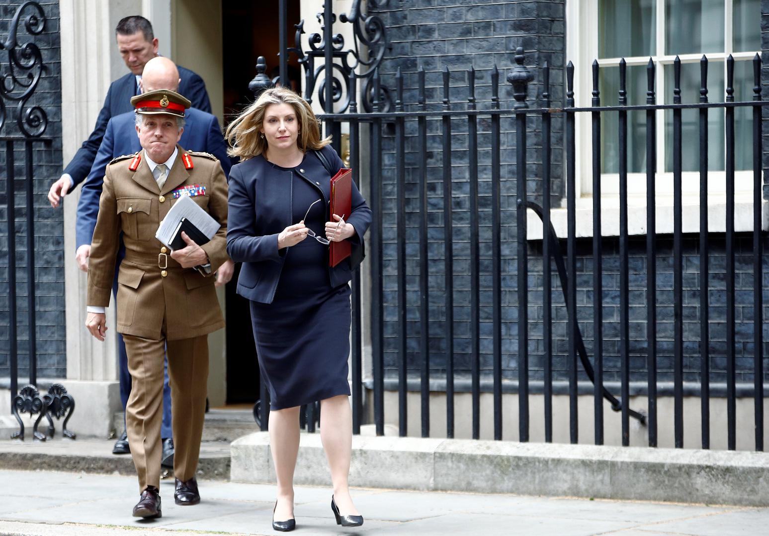 الجنرال نيكولا كارتر قائد هيئة أركان القوات المسلحة البريطانية في داونينغ ستريت بلندن