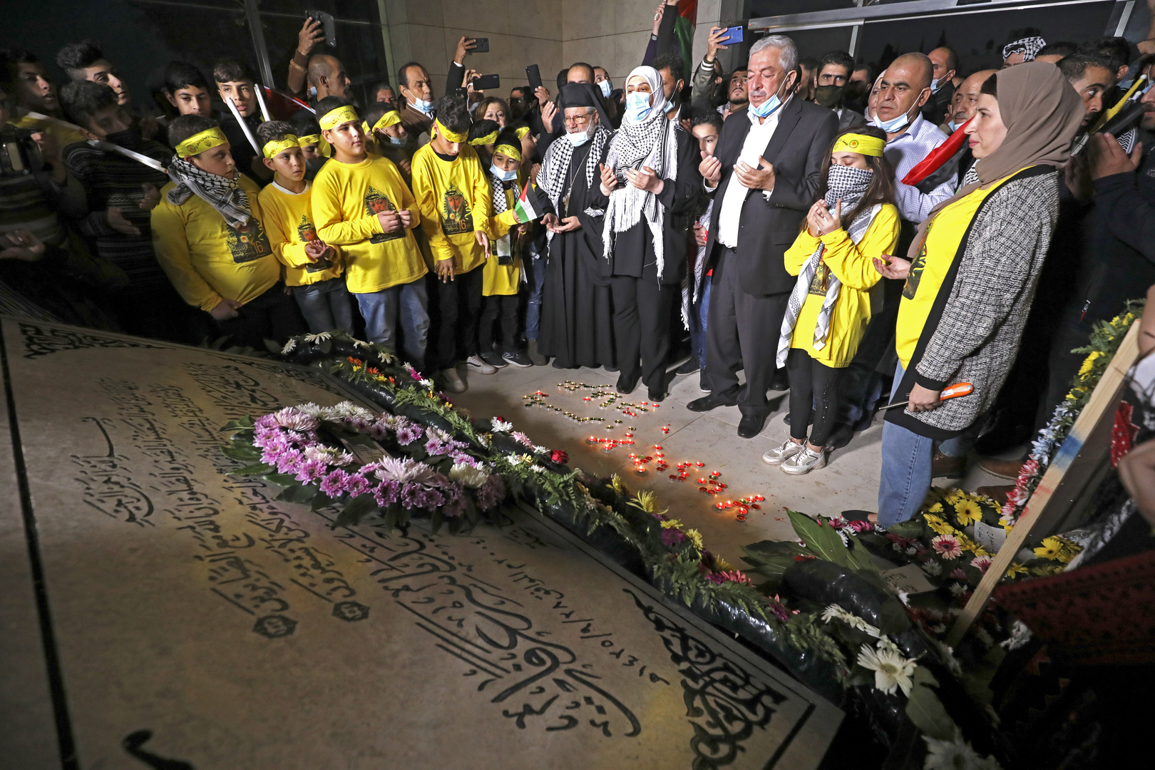 إحياء الذكرى الـ16 لرحيل عرفات في الضفة الغربية