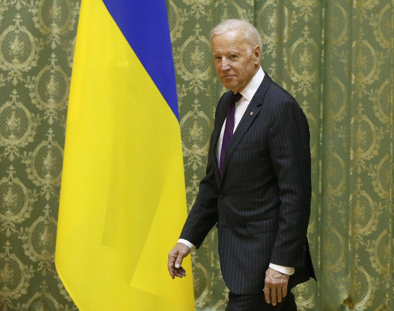 جو بايدن خلال زيارة إلى كييف - صورة أرشيفية