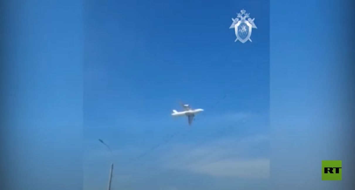 انزلاق طائرة شحن روسية أثناء هبوطها اضطراريا
