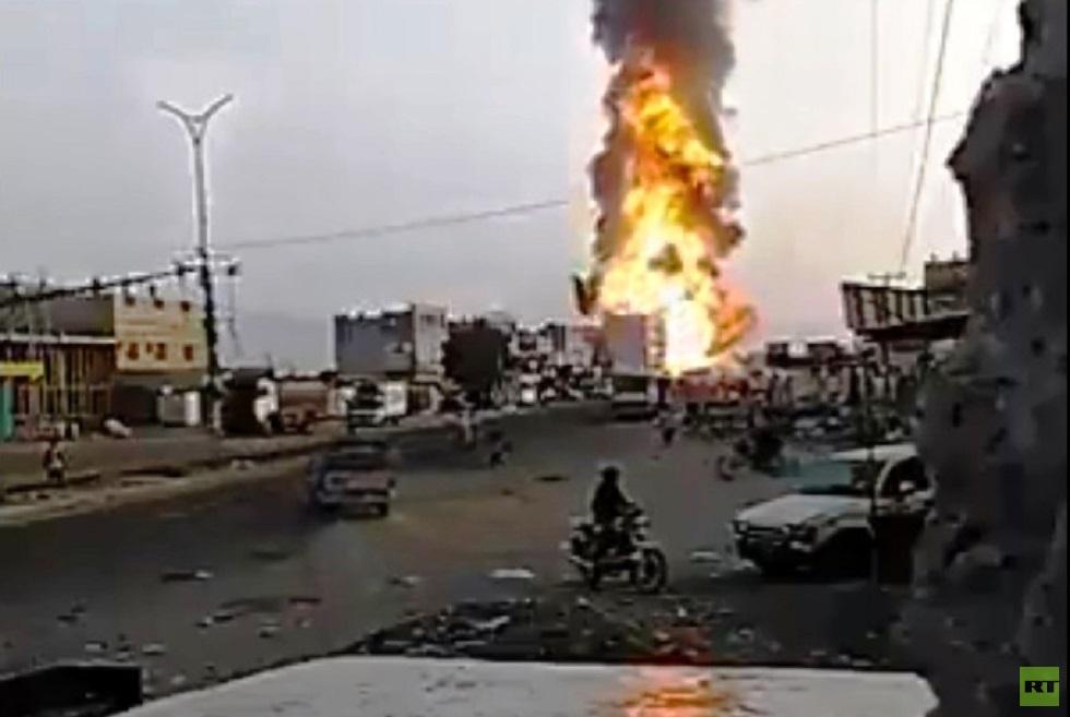 اليمن.. وقوع ضحايا في حريق بإحدى محطات المشتقات النفطية بمحافظة الحديدة