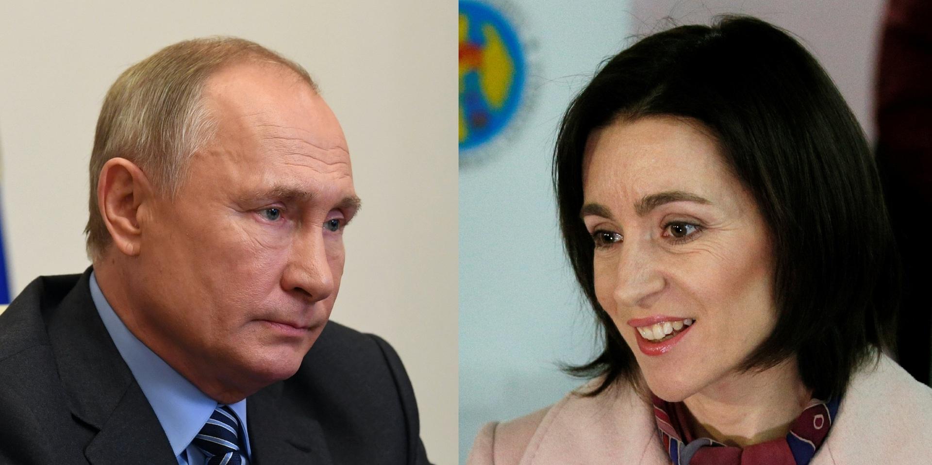 بوتين مهنئا ساندو: أرجو أن يسهم عملكم كرئيسة مولدوفا في تطوير العلاقات بين بلدينا