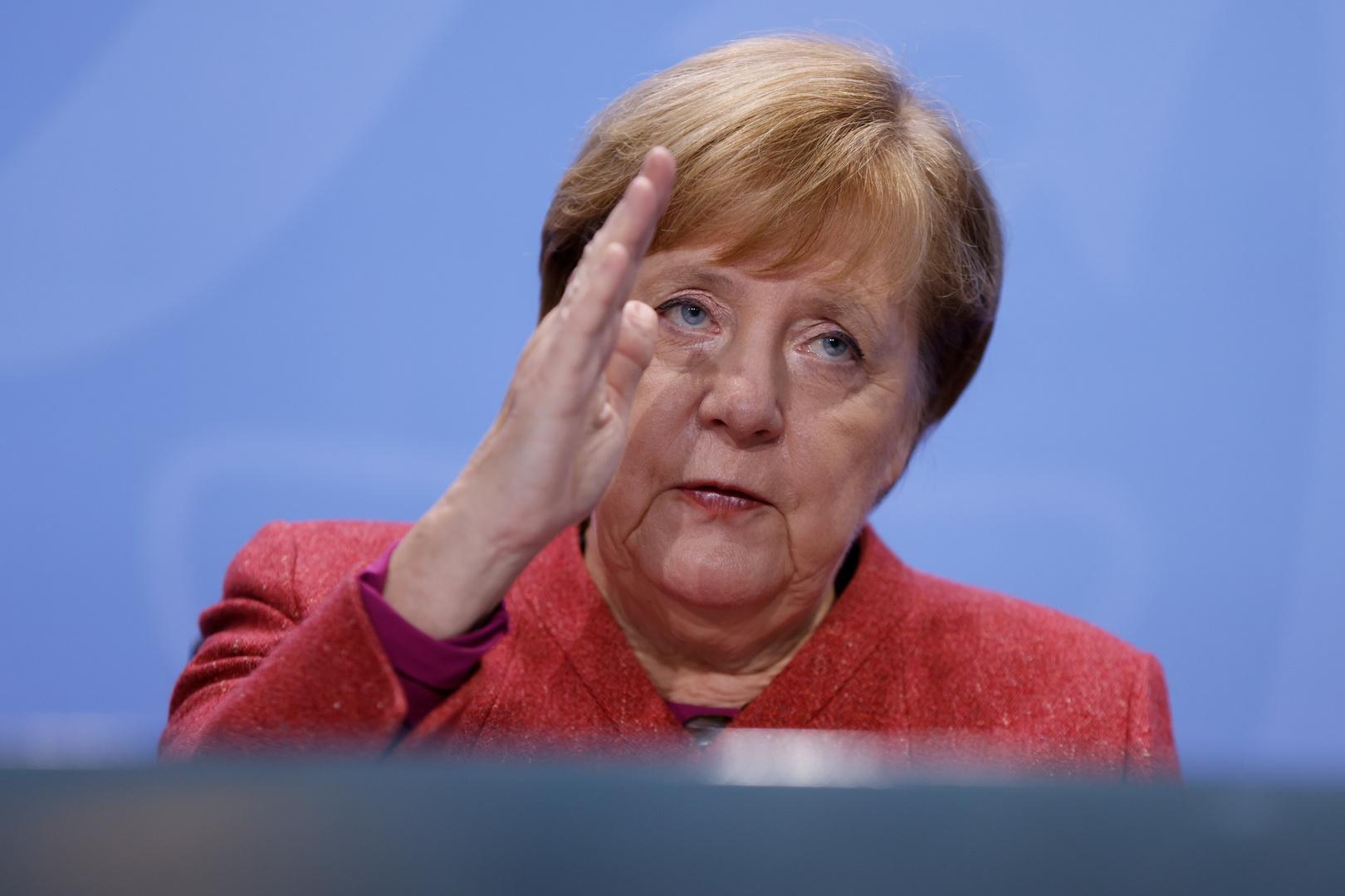 المستشارة الألمانية تعرب عن قلقها المستمر إزاء جائحة كورونا