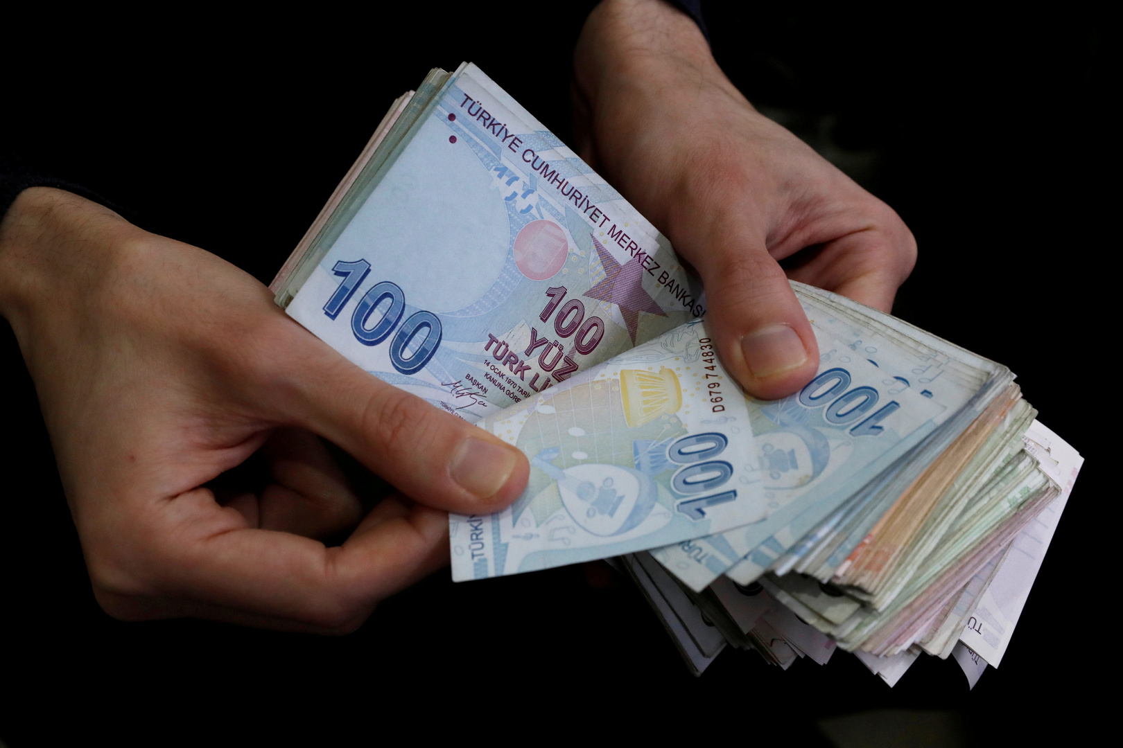 أوراق نقدية من العملة التركية