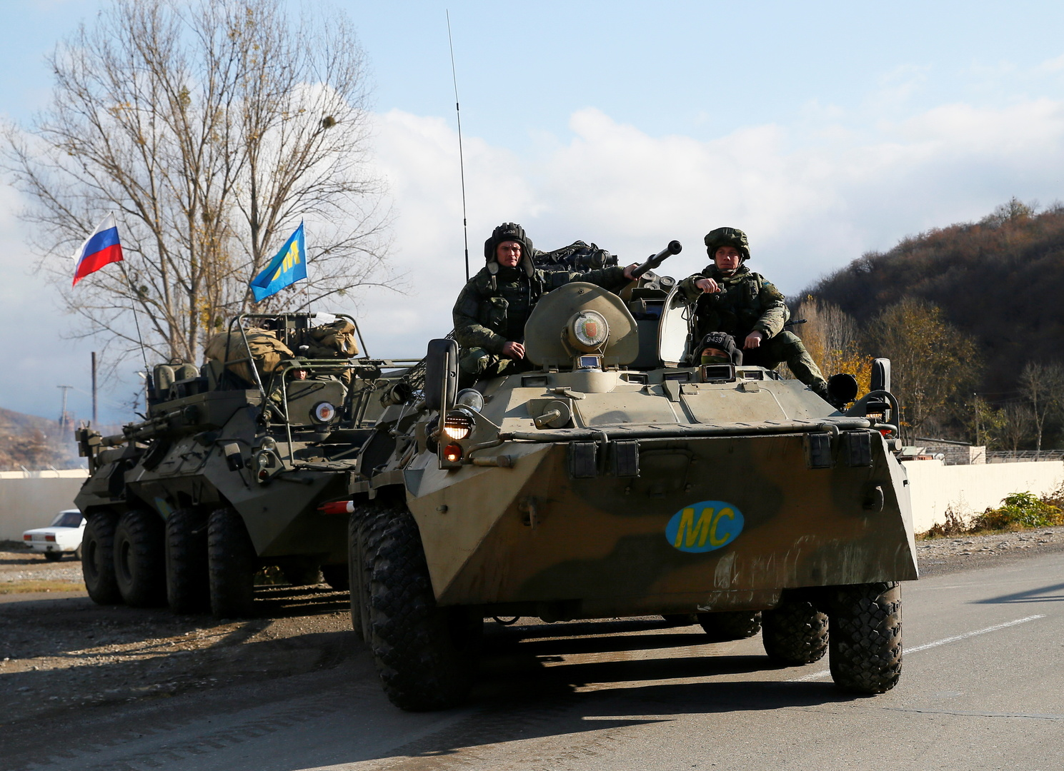 وحدات من قوات حفظ السلام الروسية في إقليم قره باغ.