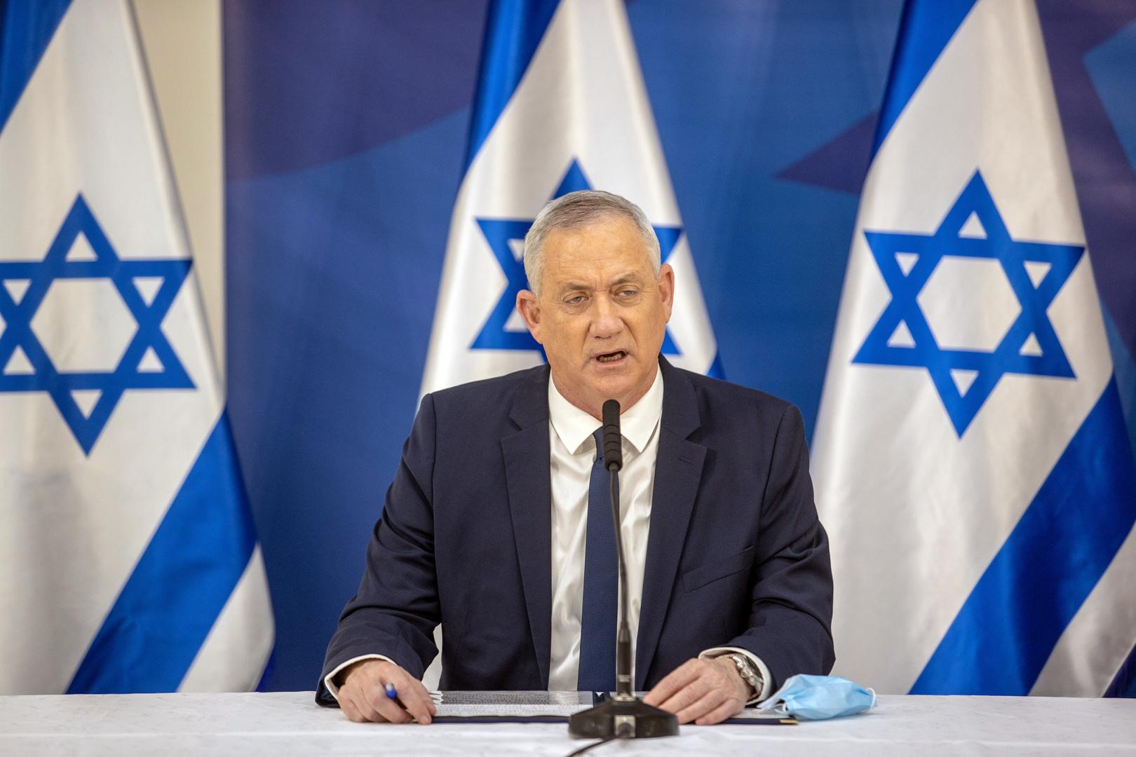 وزير الدفاع الإسرائيلي، بيني غانتس