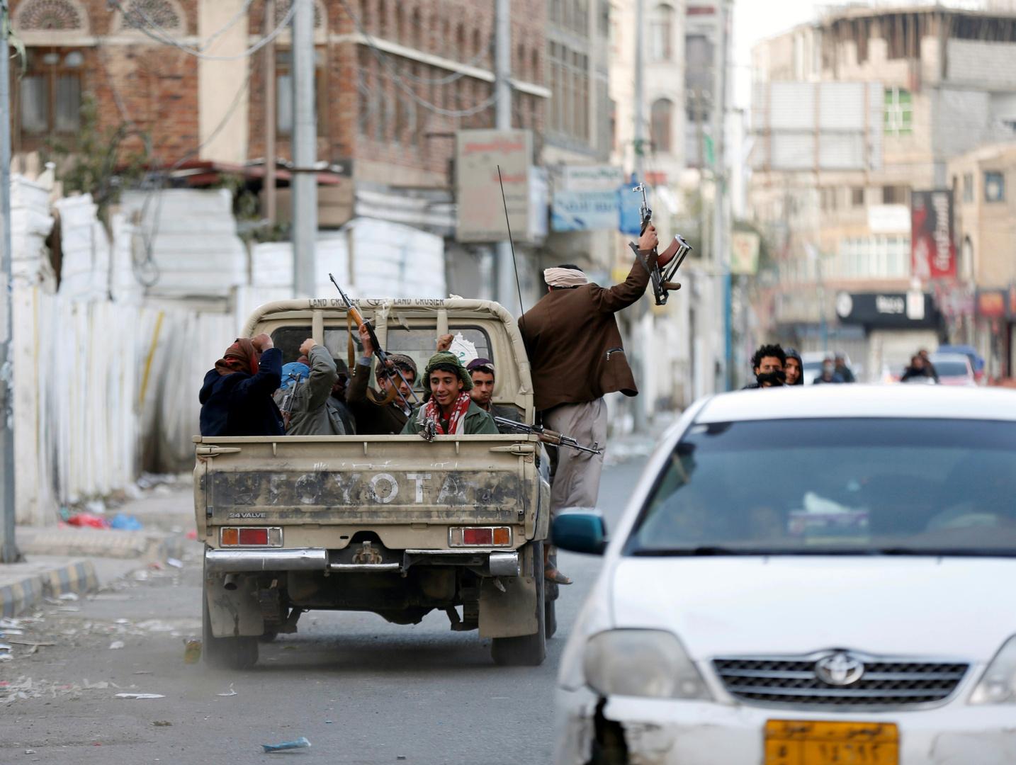 عناصر لحركة الحوثيين في صنعاء - صورة أرشيفية