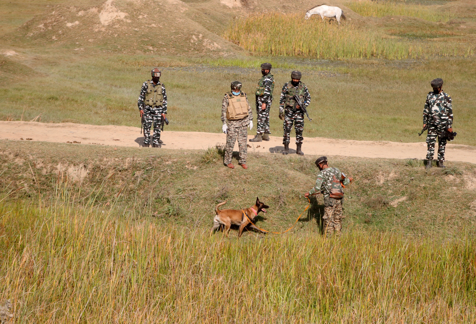 القوات الهندية في منطقة بامبور. الصورة: أرشيف.