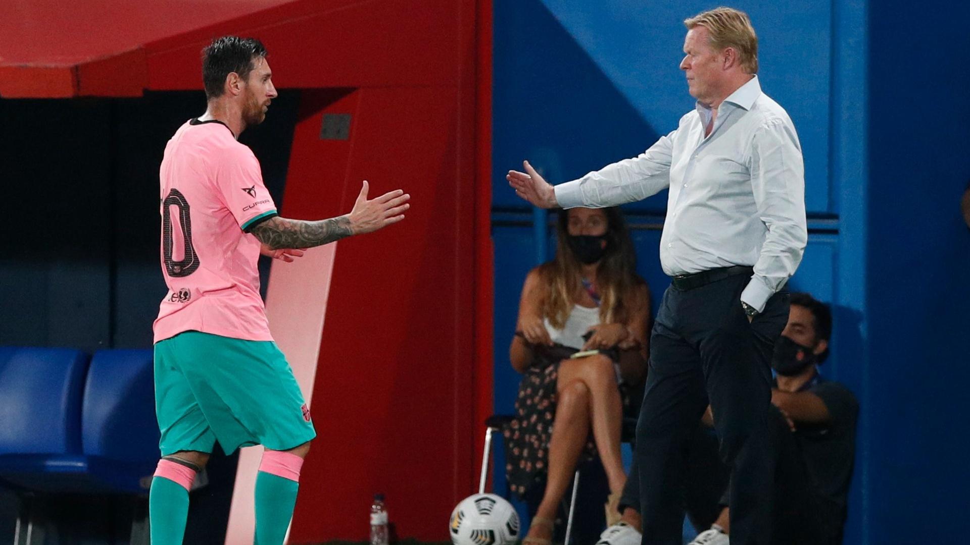 كومان يجهل مستقبل ميسي مع برشلونة