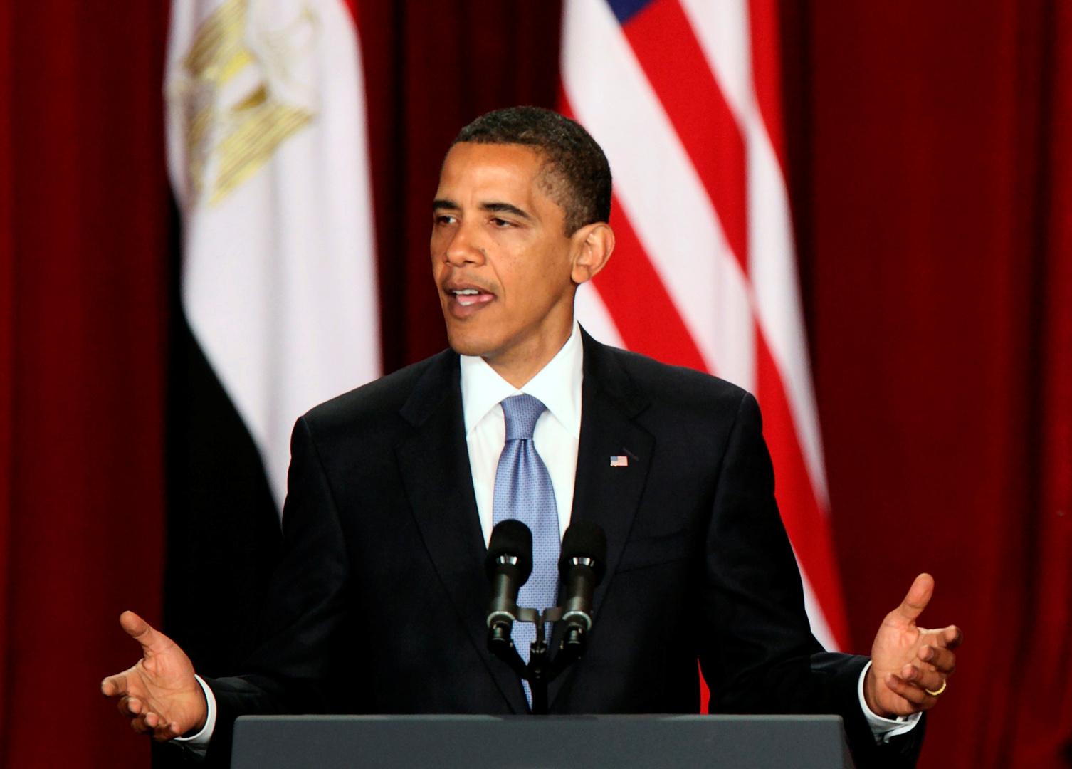 باراك أوباما يلقي خطابا في جامعة القاهرة - 4 يونيو 2009