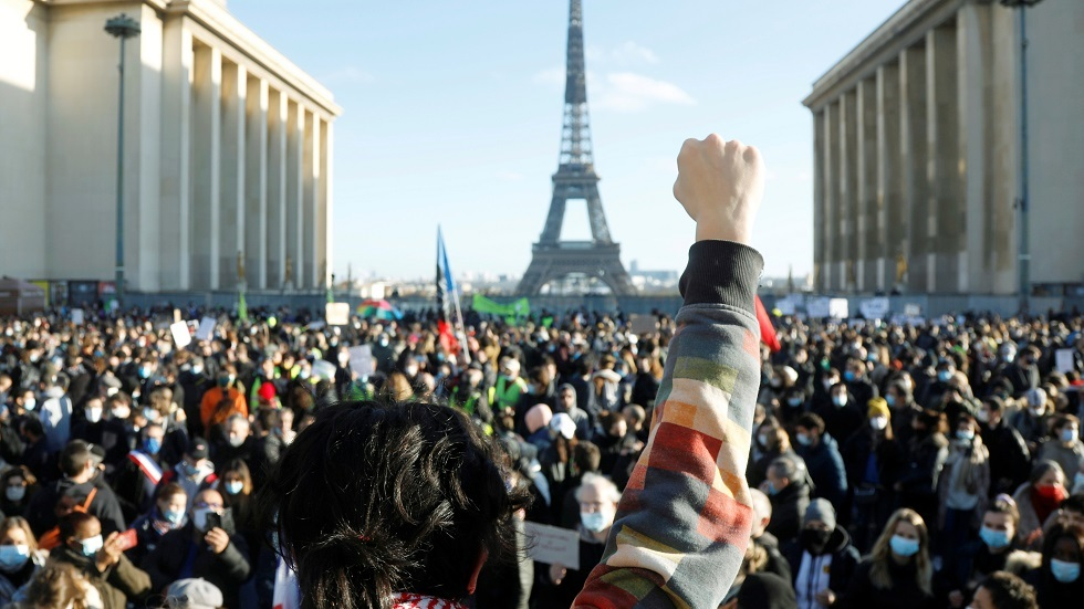 الاحتجاجات في العاصمة الفرنسية باريس