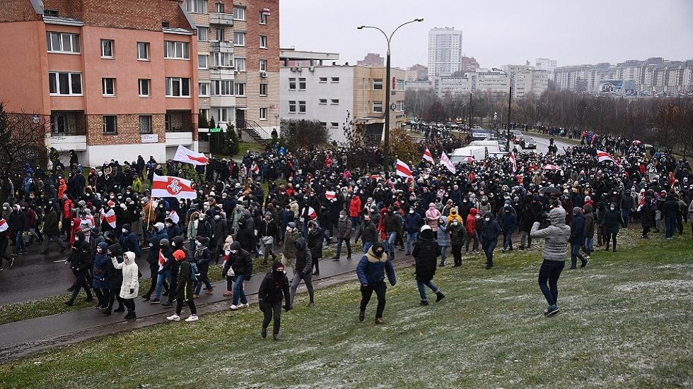 جماعة حقوقية: توقيف أكثر من 100 متظاهر في احتجاجات بيلاروس