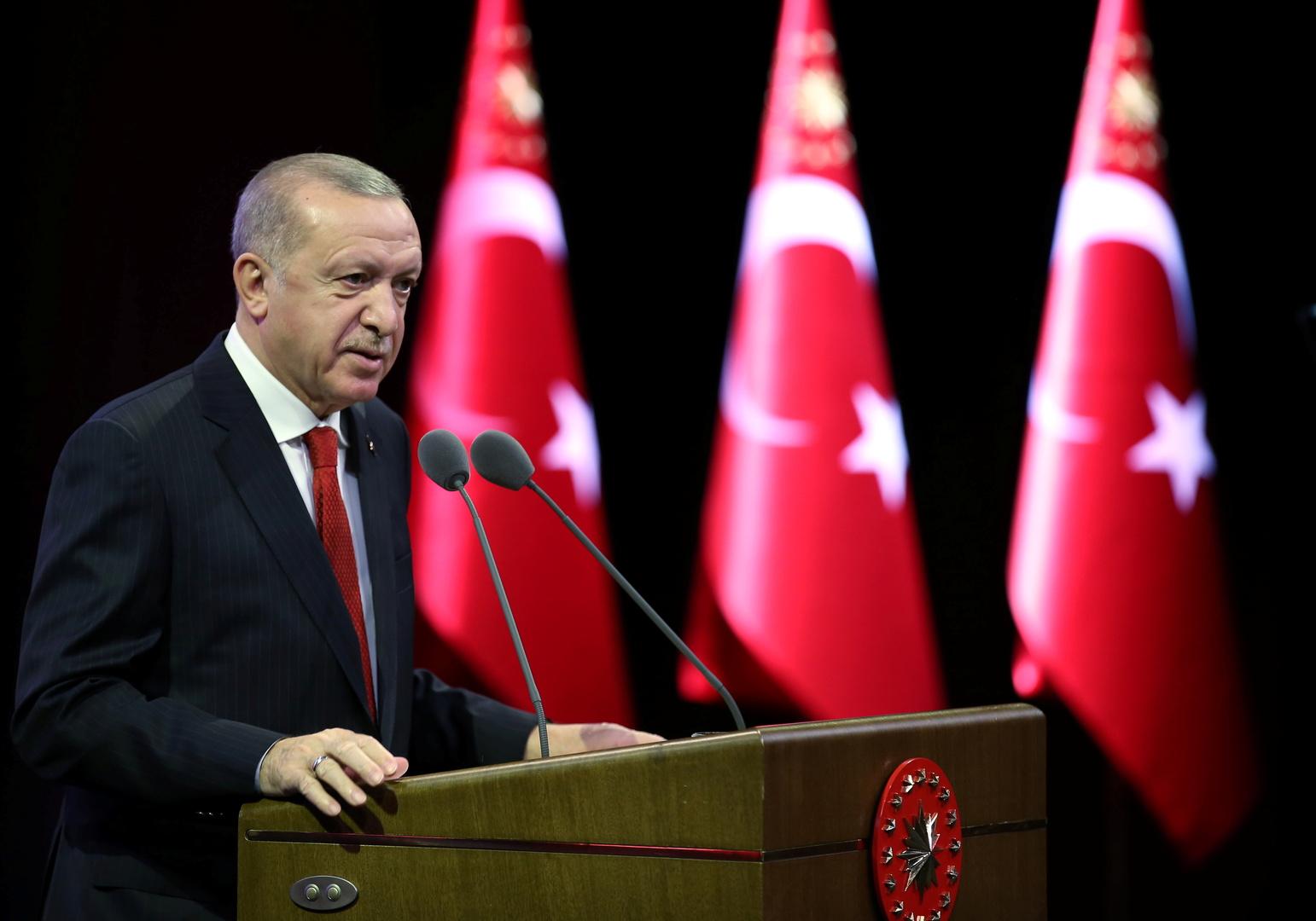 أردوغان: النظام العالمي القائم على الجشع والهيمنة والظلم لن ينجح