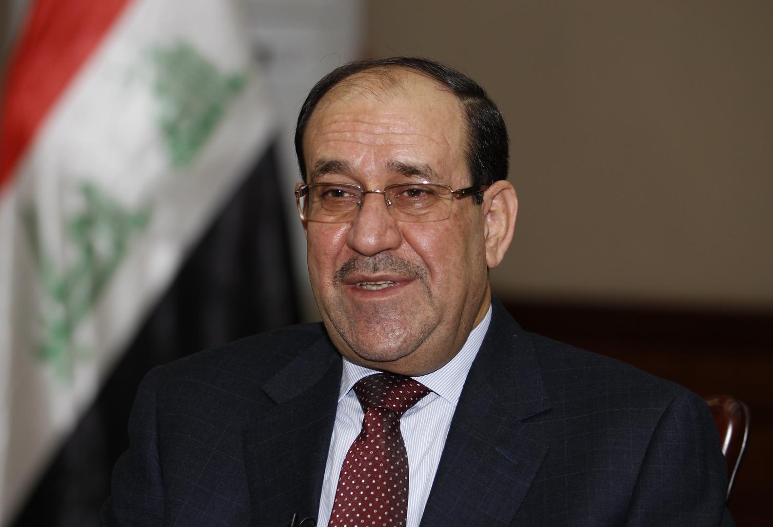 المالكي: إيران تعتقد أنها تدافع عن نفسها في العراق