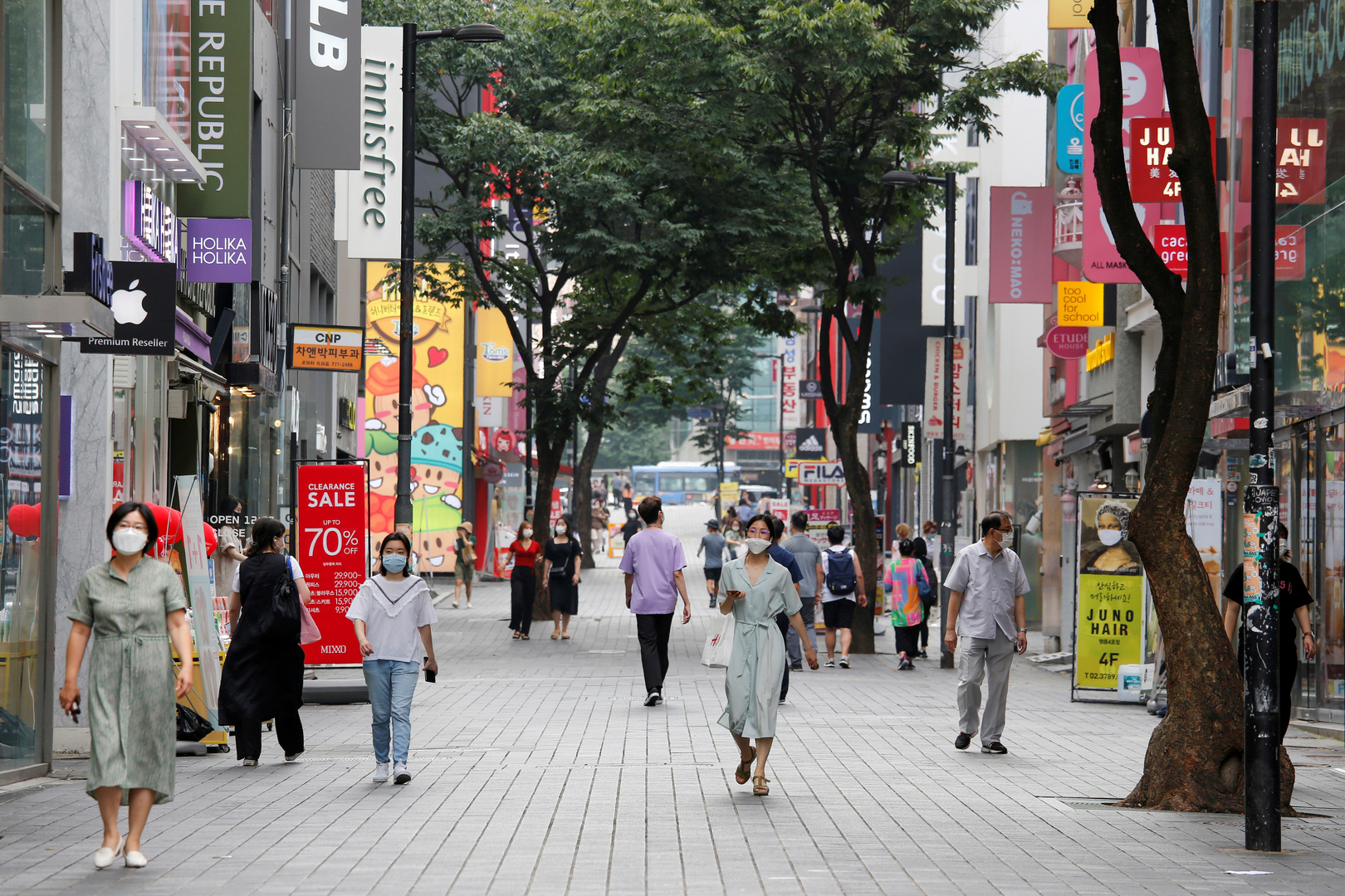 العاصمة الكورية الجنوبية سيئول في زمن كورونا في أغسطس الماضي.
