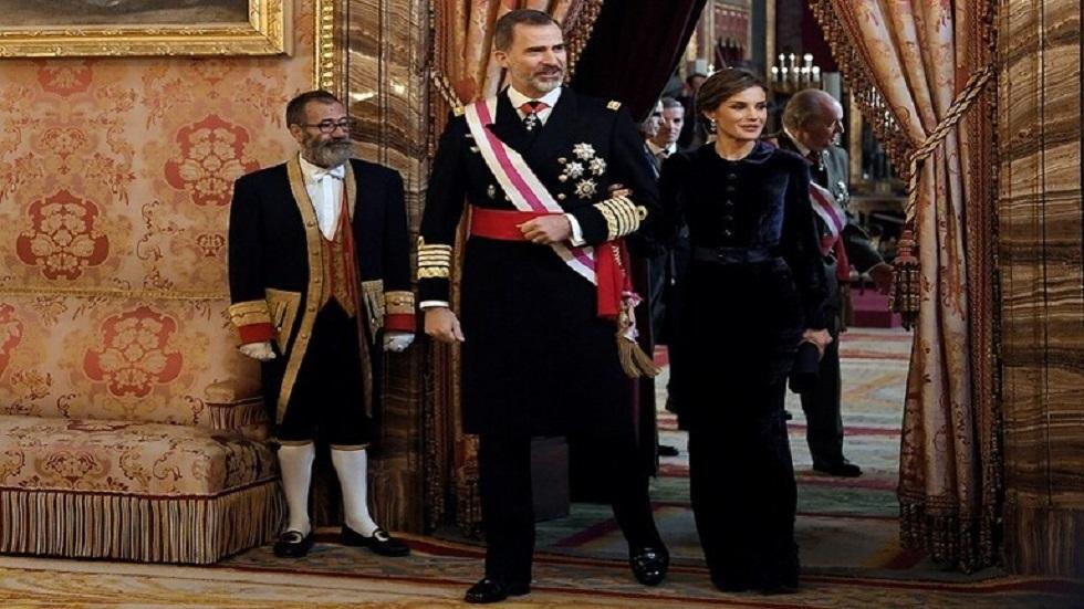 ملك إسبانيا فيليبي السادس وزوجته ليتيسيا - أرشيف