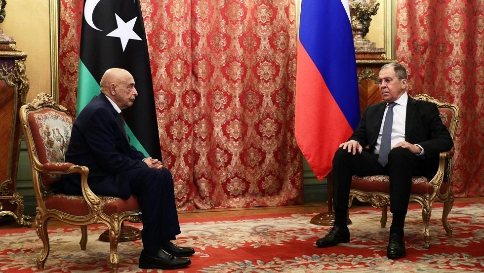 لافروف يستقبل عقيلة صالح في موسكو