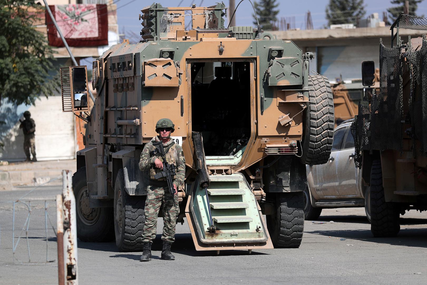 عناصر وآليات للجيش التركي في شمال سوريا
