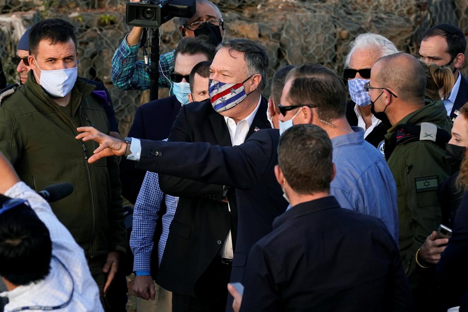 وزير الخارجية الأمريكي مايك بومبيو في الجولان السوري المحتل