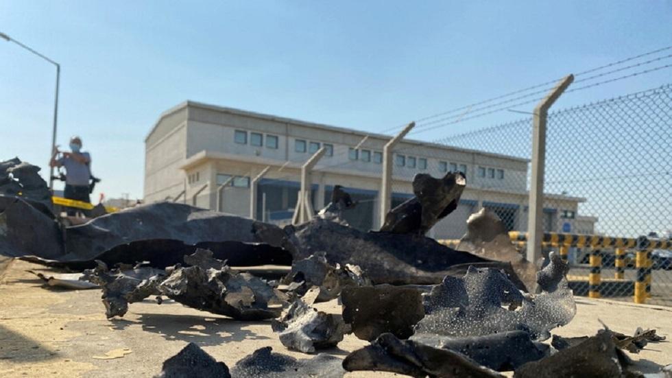 من آثار الهجوم على منشأة أرامكو السعودية - أرشيف