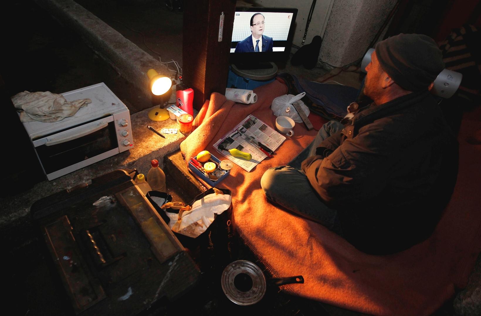 فرنسي فقير يعيش بمفرده في ضيق في جنوب البلاد في انتظار مسكن لائق. الصورة: أرشيف.