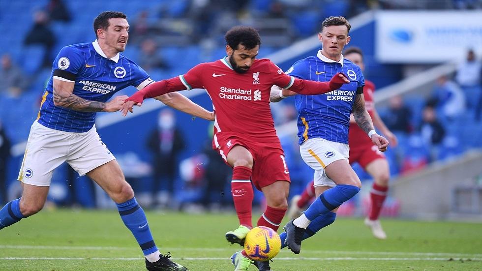 ليفربول يسقط في كمين برايتون ورد فعل غاضب من صلاح على قرار كلوب (فيديو)