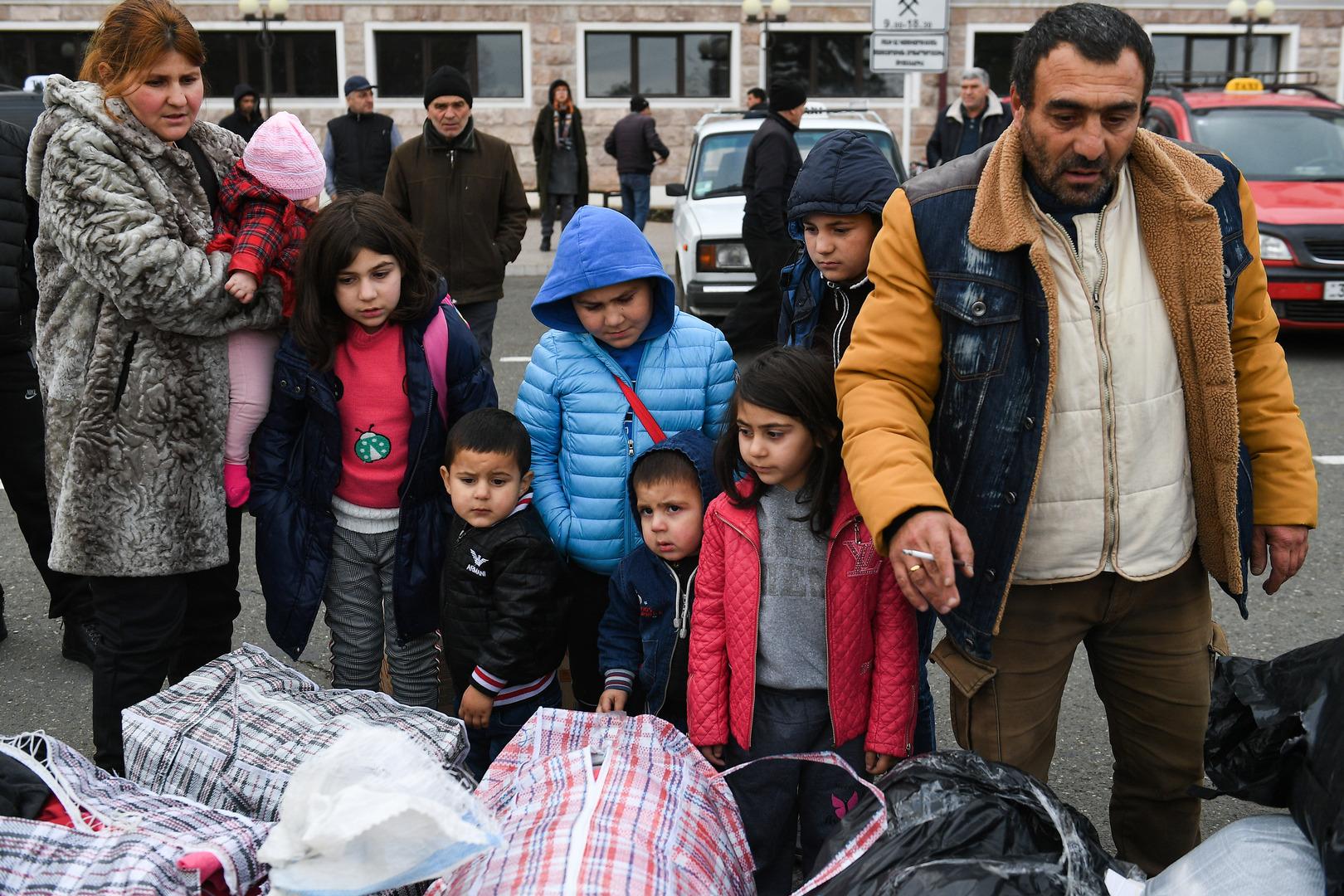 لاجئون عادوا إلى مدينة ستيباناكيرت في قره باغ من أرمينيا