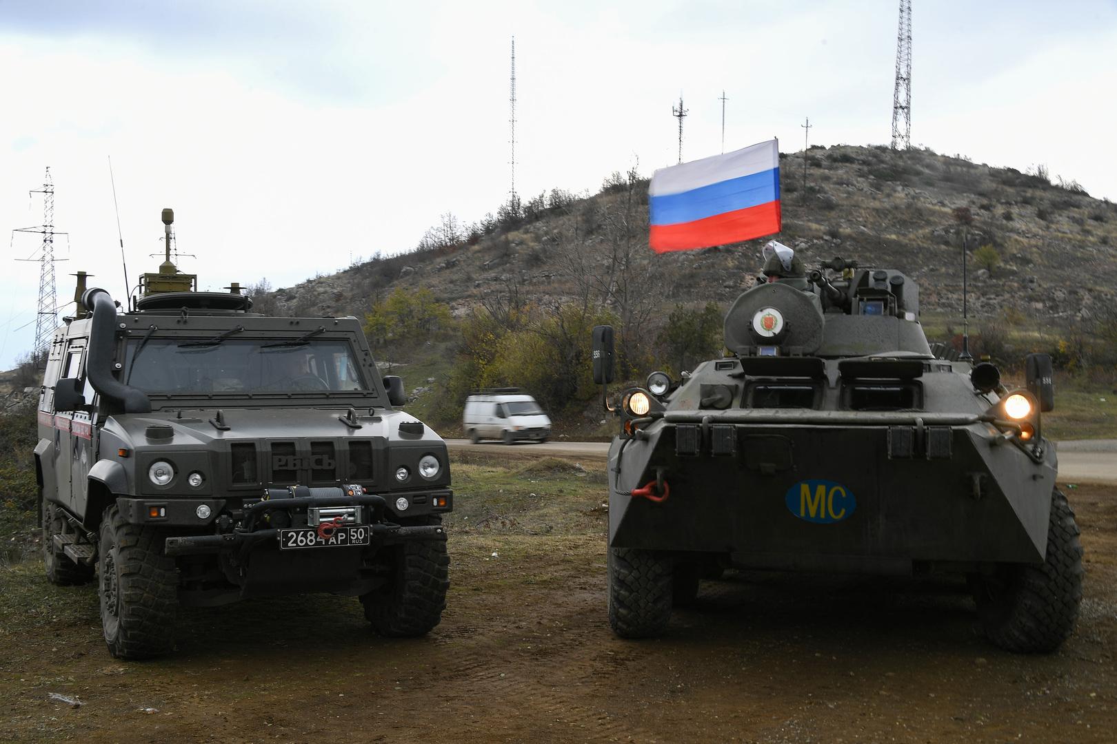 دورية لقوات حفظ السلام الروسية في قره باغ