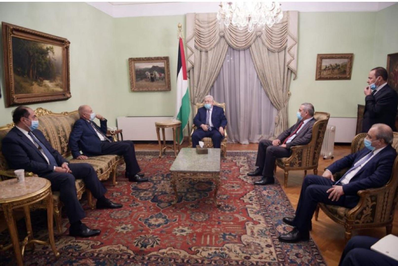 أبو الغيط يبحث مع عباس تطورات القضية الفلسطينية