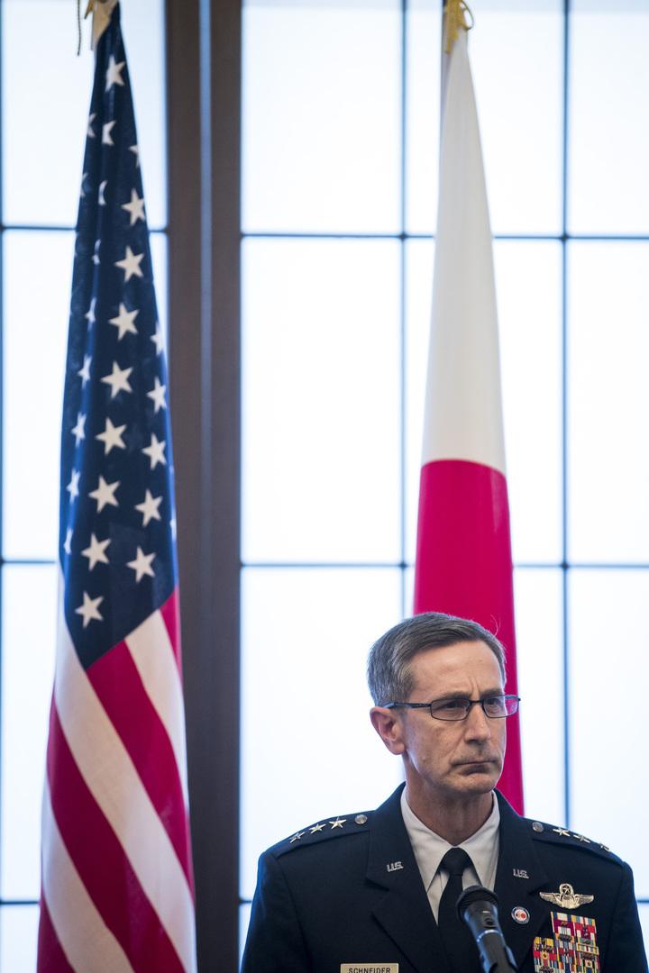 الجنرال كيفين شنايدر، قائد القوات الأمريكية في اليابان