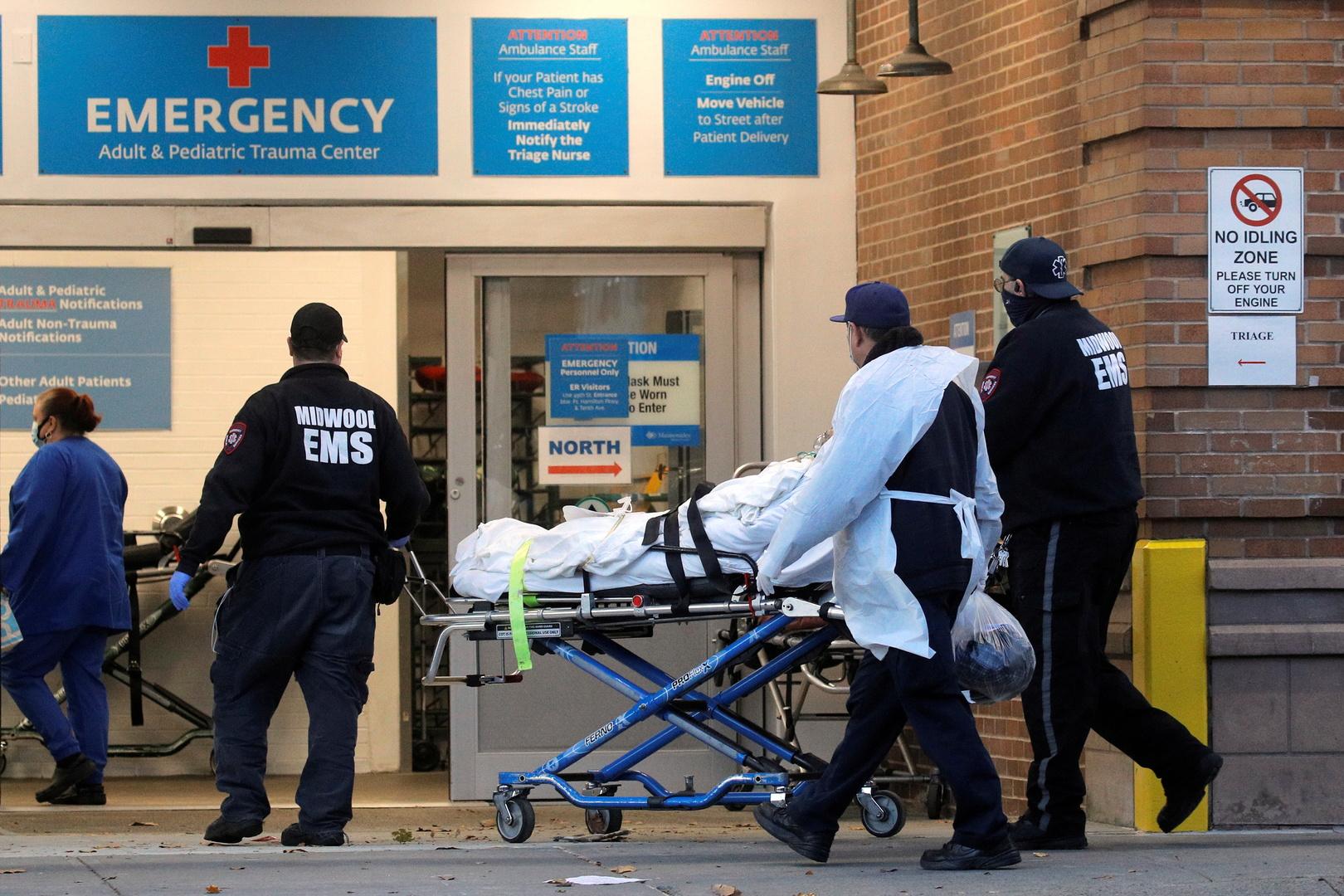 الولايات المتحدة تسجل ارتفاعا حادا في وفيات كورونا تجاوز 2500 خلال يوم واحد