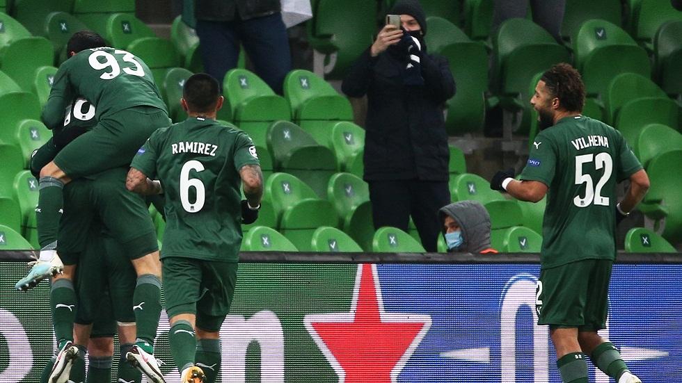 كراسنودار يحقق فوزه الأول في دوري الأبطال ويقطع تذكرة الدوري الأوروبي (فيديو)