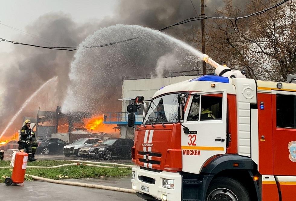 مصرع شخصين بحريق في مستشفى بموسكو