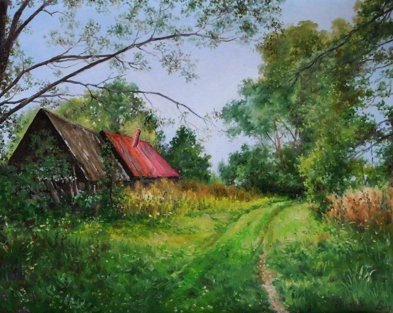 لوحة بريشة الفنان الروسي فلاديمير فاخروشيف